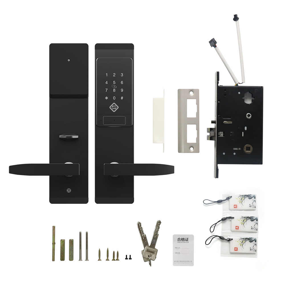 Pineworld Keamanan Kunci Pintu Elektronik, Aplikasi Wifi Smart Touch Layar Kunci kode Digital Keypad Gerendel untuk Rumah Hotel Apartment