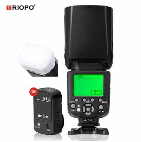 TRIOPO TR 982III Camera Flash Speedlite LCD TTL 2 4G