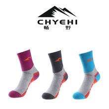 Women Sports Socks (3 Pairs/lot) CHYEHI/W009 Cotton Warm Outdoor Climbing Hiking Socks 2 pairs men s breathable outdoor socks hiking sports socks climbing socks s015