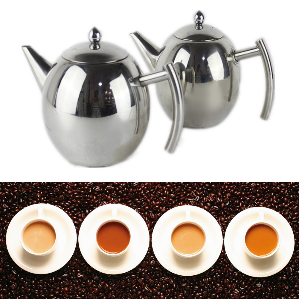 Teapot Wedding 1L 1 5L Durable Teapot Coffee Tea Kettles Stainless Steel Infuser Filter Tool Tea