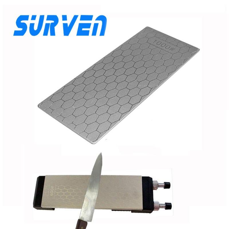 SURVEN Official Store 1Pc 1000# S3 Diamond Knife Sharpening Grinding Stone Whetstone Grit Honeycomb Type Sharpener Sharpen Knife Block Professional