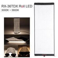 FalconEyes Flexible Rollable Cloth LED Fill-in Light Lamp Studio Video Photo Lighting Panel 240W Bi-Color 3000K-5600K RX-36TDX