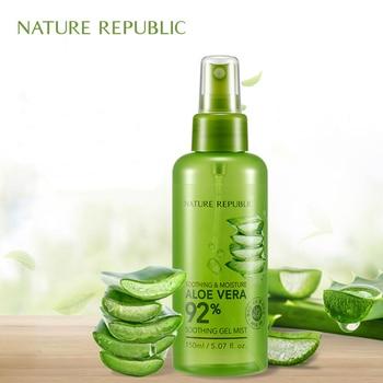 Nature Republic 150ml Face Toner Soothing&Moisture Aloe Vera 92% Soothing Gel Mist Aloe Moisturizing Spray недорого