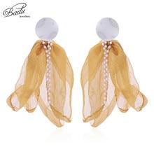 Badu Big Yarn Flower Stud Earring Women Bohemian Holiday Jewelry 5 Colors Earrings Christmas Gift for Girls Wholesale