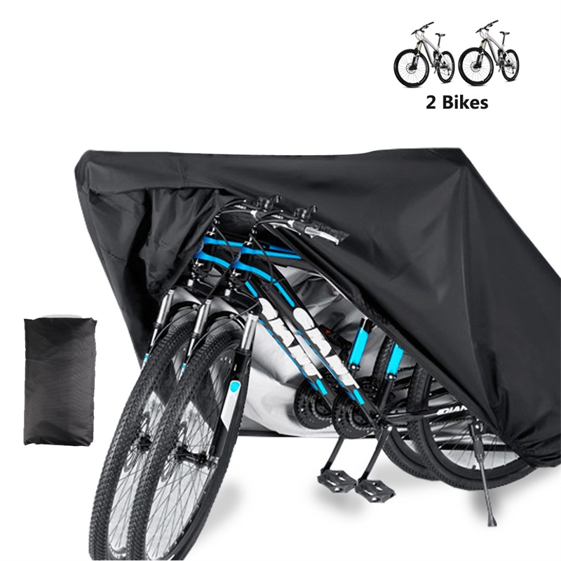 Bicycle Bike Cover Waterproof Outdoor for 2 Bikes Heavy Duty 210D Oxford XL Wheel Rain Cover|Protective Gear| |  - title=