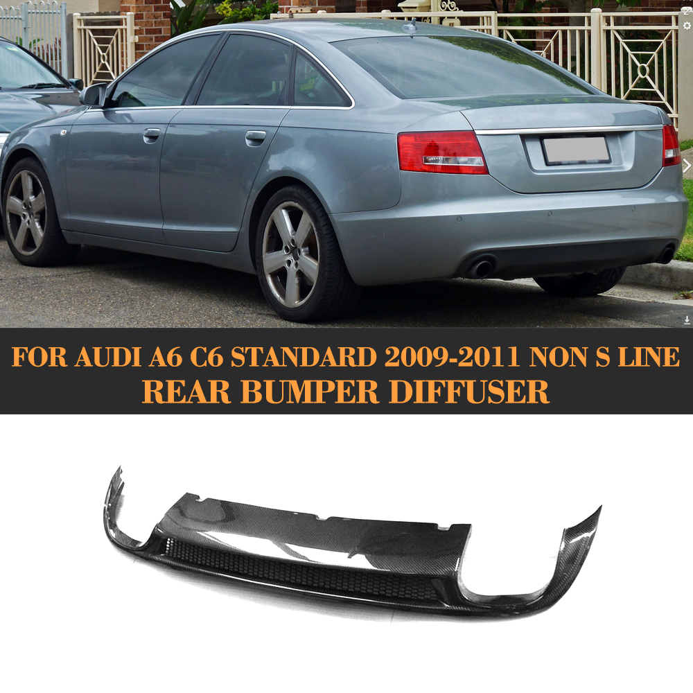 Carbon Fiber Rear Bumper Lip Spoiler Diffuser For Audi A6