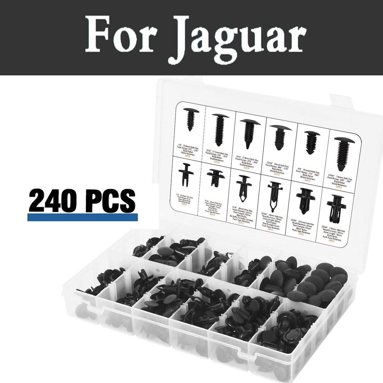 10X Jaguar XE XF Interior Bumper Push Trim Panel Fastener Clips 7-8mm
