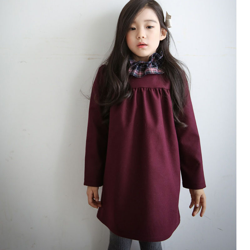 ФОТО fashion kids princess dress clothing little teenage girls dresses autumn winter 2016 children party dress clothing for girl