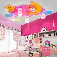 Top Star Медведь Детский сад LED E27 110 В 220 В мультфильм дети потолочный светильник светодиодный дерево ребенок LED Потолочные светильники
