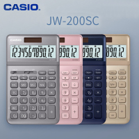 CASIO JW 200SC Calculator Light Luxury Fashion Financial Office Accounting 12 bit Solar Energy Business Electronic Calculator