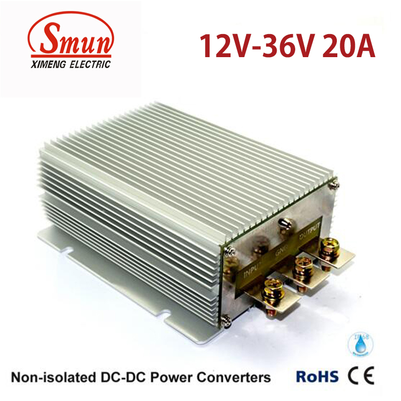 Waterproof IP68 12V to 36V 20A 720W DC-DC Converter for Car and VehicleWaterproof IP68 12V to 36V 20A 720W DC-DC Converter for Car and Vehicle
