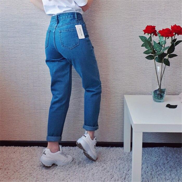 Dunayskiy Autumn jeans women Fashionable Blue High Waist Loose Denim Jeans Female Harem Pants Trousers boyfriend jeans for women 6
