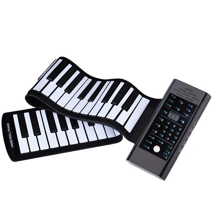 88 teclas portátiles enrollables de piano para enseñar a aprender instrumentos musicales