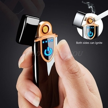 USB Rechargeable Sensor Touch Screen Electronic Tungsten Zinc Alloy Cigarette Li