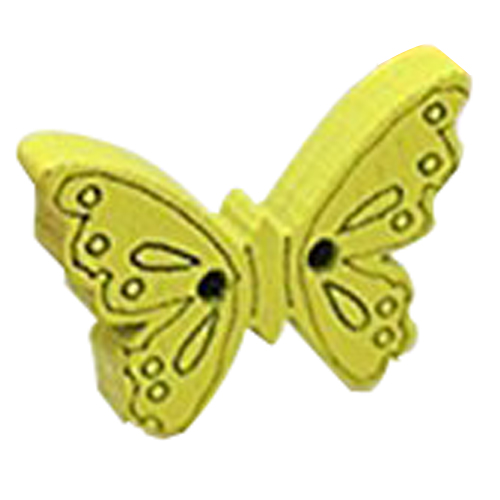 MEOF Pack of 50 Colorful 2 Holes Wooden Butterfly Buttons, for DIY, Sewing, Scrapbooking, Crafts, Jewellery making, shabby chic