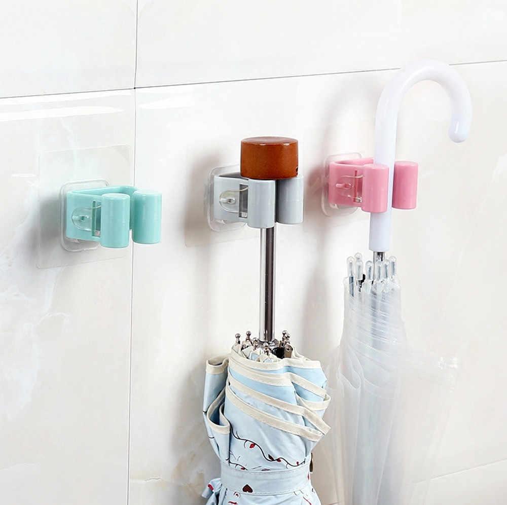 1 pcs Cor Aleatória Parede Mop Guarda-chuva Titular Escova Vassoura Cabide de Cozinha Rack de Armazenamento Ferramenta