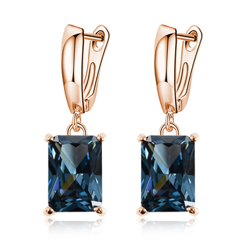expensive large earrings white gold blue red 4 colors luxury jewelry great jewellery high quality big drop earring for women MISANANRYNE 16 Colors Luxury Crystal Drop Earring For Women High Quality Square Shape Jewelry  Wedding Party Dress Earrings N