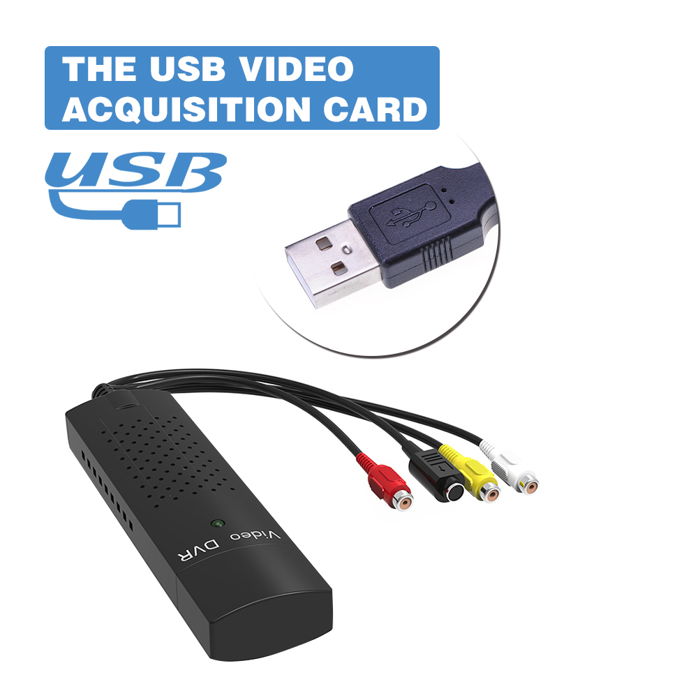 DVD DVR USB 2,0 captura adaptador de vídeo Cable convertidor con Audio estéreo RCA s-entrada de vídeo para ordenador portátil