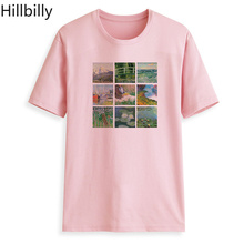 Hillbilly Graphic T Shirt Women 2018 Vintage Tshirt Cotton Tee Plus Size Oil paintings by Van Gogh Tshirts