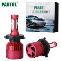 Partol G9 80W H4 LED Car Headlight Bulbs DRL 9600LM 6500K Car LED Headlamp Auto Headlights