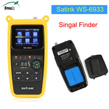 Горячая Satlink ws-6933 dvb-s2 fta C & Ку 6933 Цифровой спутниковый Finder метр с 2.1 дюймов ЖК-дисплей Дисплей pk WS-6906/V8 Finder