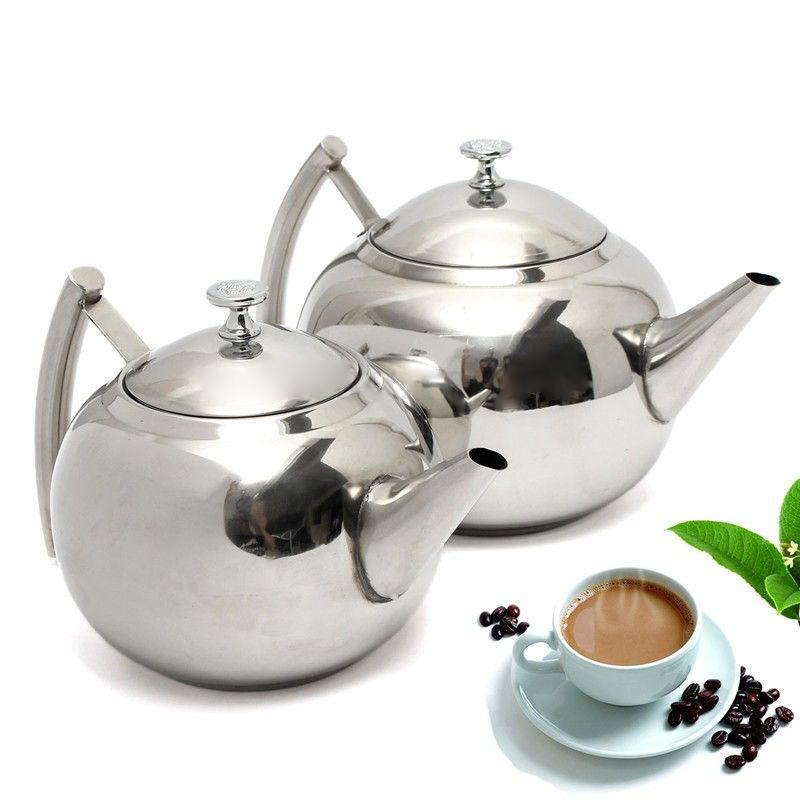 New Practical 1.5/2L Stainless Steel Teapot Tea Pot Coffee With Tea Leaf Filter Infuser For Kitchen Home Tools
