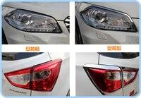 Высшая звезда ABS хром 2шт Автомобильная передняя фара отделка + 4 шт задний светильник отделка для Suzuki S-cross 2014