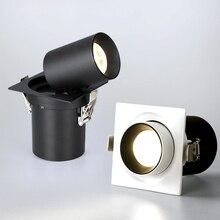 Hartisan 7 ワット 12 ワットの正方形は台所用のダウンライトリビングルーム毎日照明 360 度調整可能なコアledランプスポットライト