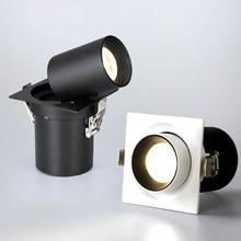 Hartisan 7W 12W Vierkante Led Downlight Voor Keuken Woonkamer Dagelijkse Verlichting 360 Graden Verstelbare Core Led Lamp spot Verlichting