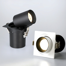 Hartisan 7w 12w כיכר led downlight סלון מטבח יומי תאורה 360 מעלות מתכוונן core led מנורה ספוט אורות