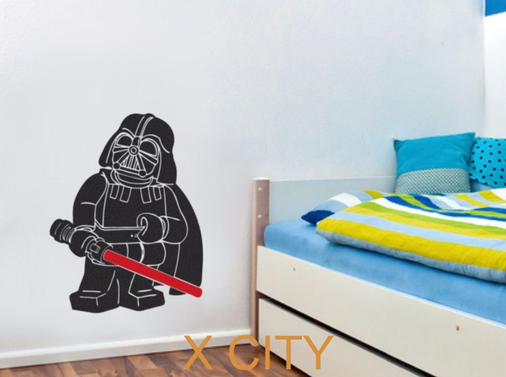 Aliexpress.com : Buy LEGO DARTH VADER STAR WARS For Children Room Vinyl Wall  Nursery Art Decal Movie Black Poster Sticker Home Bedroom Decor From  Reliable ... Part 45