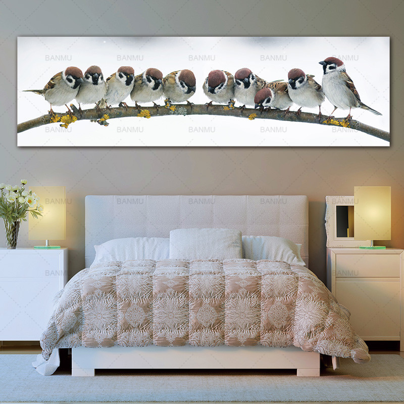 wall picture canvas painting art print birds on canvas and posters picture wall art Painting decoration for living room no frame