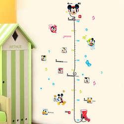 Микки Маус Ростомер измерительный инструмент стены стикеры аппликации для детской комнаты декор росписи