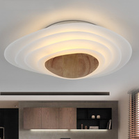 New Arrival Acrylic Wooden Ceiling Lights For Dining Room Bedroom Living Room LED Ceiling Lamp Fixtures Abajur Lamparas De Techo