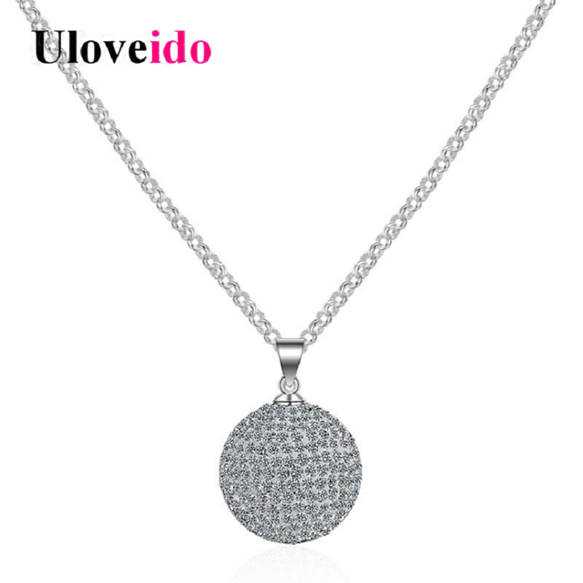 Uloveido super big necklaces pendants womens necklace uloveido super big necklaces pendants womens necklace suspension ball 30mm pendant decorating jewelry gifts for aloadofball Choice Image
