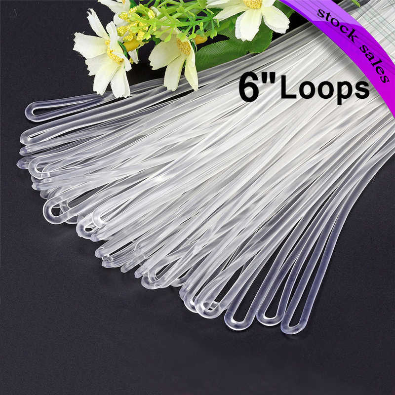 eac325c57aa5 100pc/lot 6 Inch Premium Clear Plastic Luggage Loop Straps/Worm ...