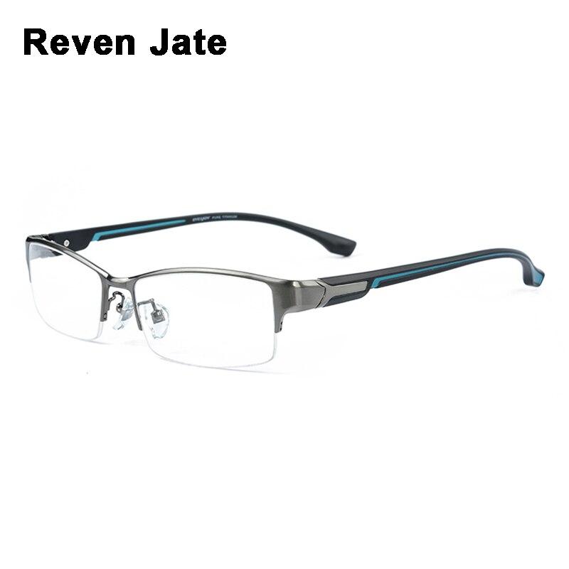 Reven Jate супер мода мужские очки в оправе ультра легкий взвешенный гибкий IP электронный покрытие металлический материал обод очки человек