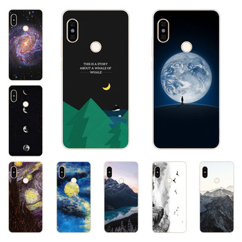xiaomi mi mix 3 case,Silicon Mountain peaks Painting Soft TPU Back Cover for xiaomi mi mix 3 protect Phone shell