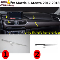 Car styling cover detector stick Middle co pilot Glove box front trim lamp trim panel part 2pcs for Mazda 6 Atenza 2017 2018