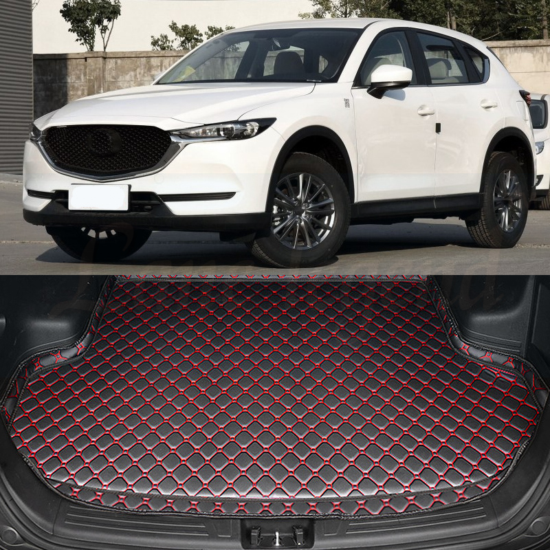 Car Rear Boot Liner Trunk Cargo Mat Tray Floor Carpet Mud Pad Protector FOR <font><b>Mazda</b></font> CX5 <font><b>CX</b></font>-<font><b>5</b></font> 2017 <font><b>2018</b></font> Car-styling image