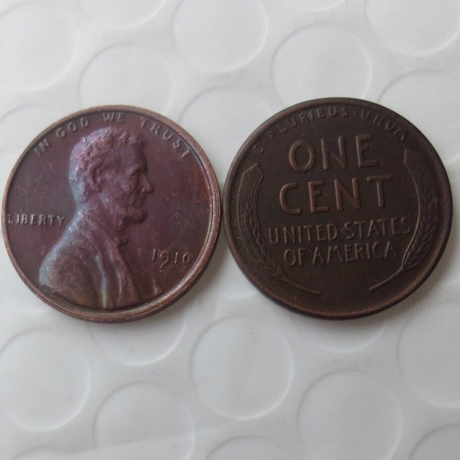 1910d Lincoln Head Cent copy coins - High Quality
