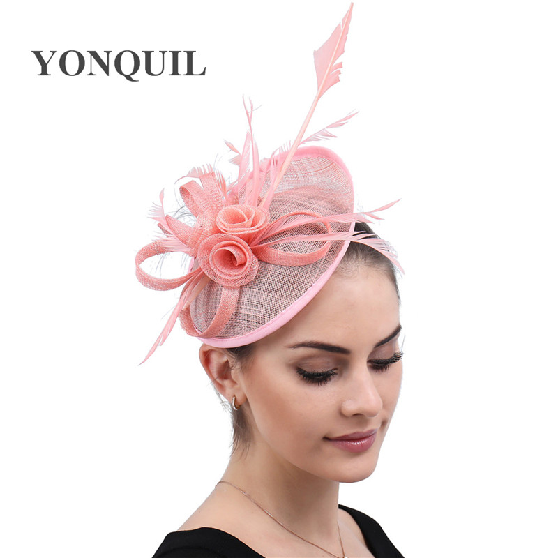Bride New Fascinator Hats For Women Headbands Tea Party Flower headpiece For Formal Cocktail Party Wedding Hats Headwear
