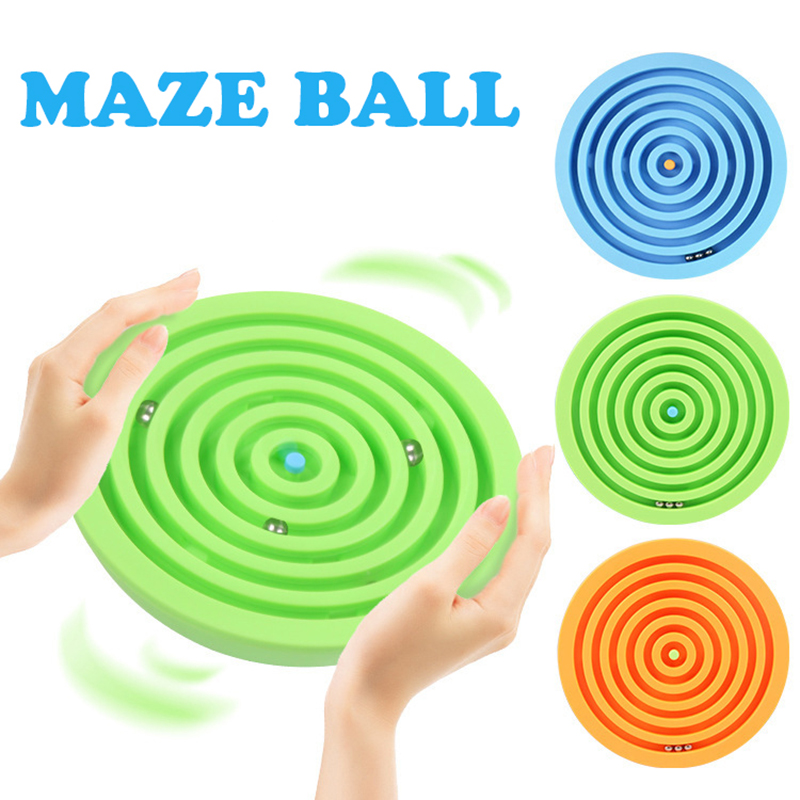 Finger Rock Intelligence Balance Maze Ball Puzzles IQ Toys Semicircle Labyrinth Game For Kids Adult Office Stress Relief Oyuncak zhiming 851548 iq car traffic jam challenges kids intelligence toys multicolored