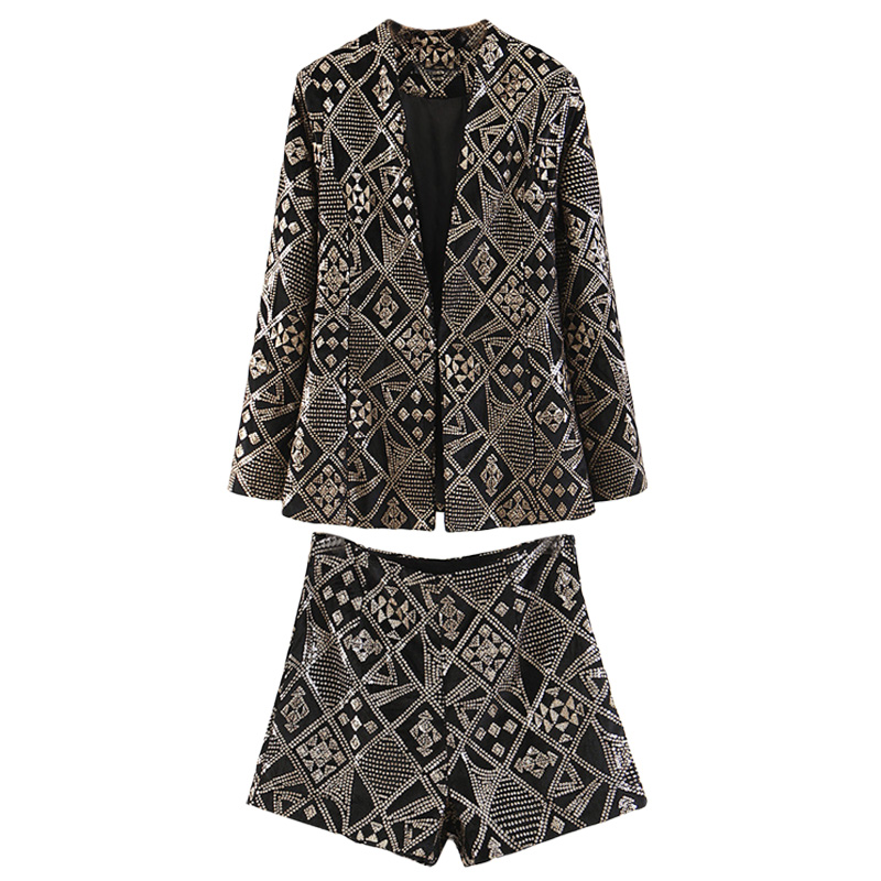 Set Women's Casual Suit Shorts Two-piece 2019 Spring And Summer New Temperament Casual Wild Loose Fashion Women's Clothes