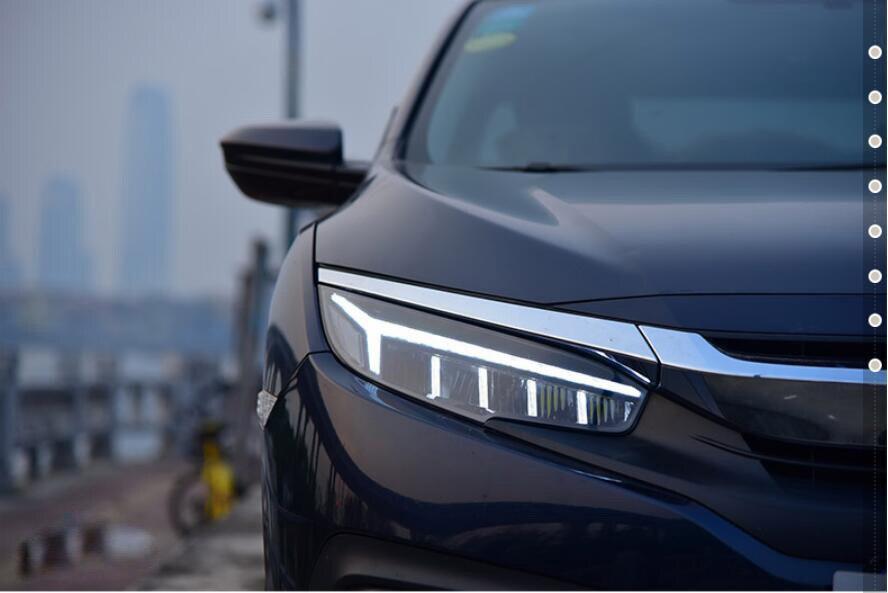Phare de voiture pour phare civique Type phare 2016 2017 2018 LED Signal dynamique flottant CIVI lumière bi-xénon lentille faisceau lumineux