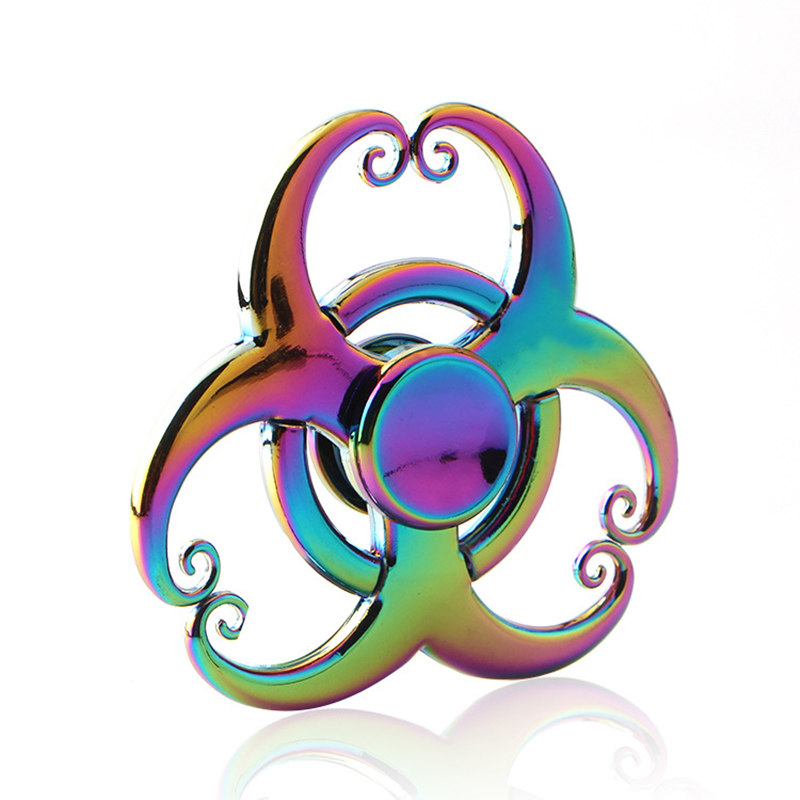 Ox Horn Flowers Colorful Fidget Spinner EDC Hand Spinners Autism ADHD Kids Christmas Gifts Metal Finger Toys Spinners