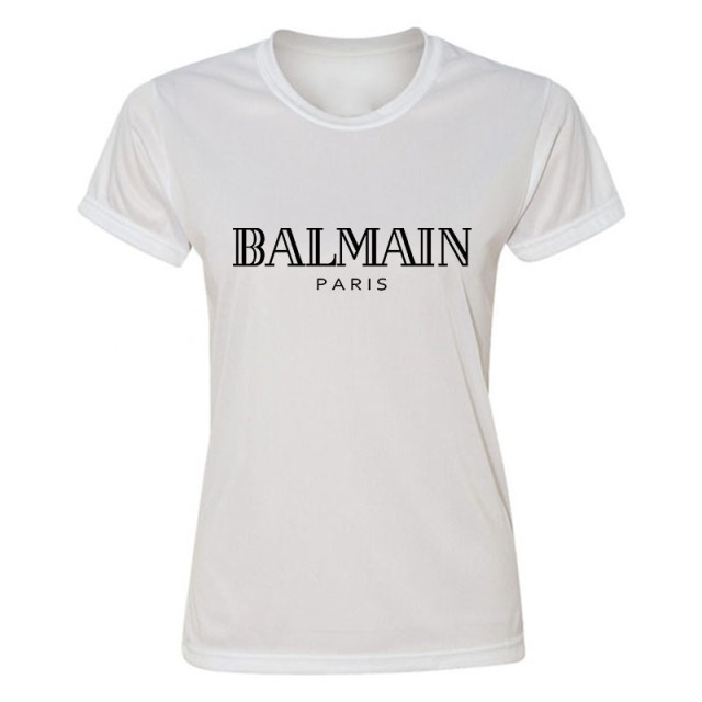 balmain shirt Free Shipping Popular Summer Ballin Paris Women T-shirt Bronzier Letter  Print Color O-Neck T Shirt Fashion Short Sleeve T-shirt