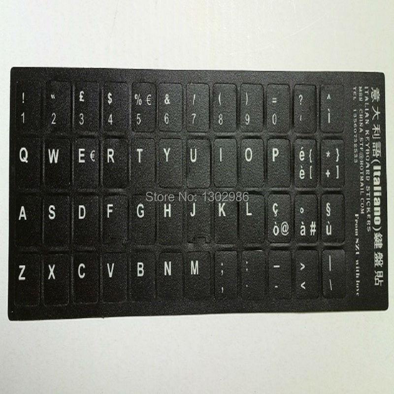 Prix pour 50 pcs Italien Lettres Alphabet Apprentissage Clavier Mise Autocollant Pour Ordinateur Portable Ordinateur De Bureau Clavier 10 pouce Ou Ci-dessus Tablet PC