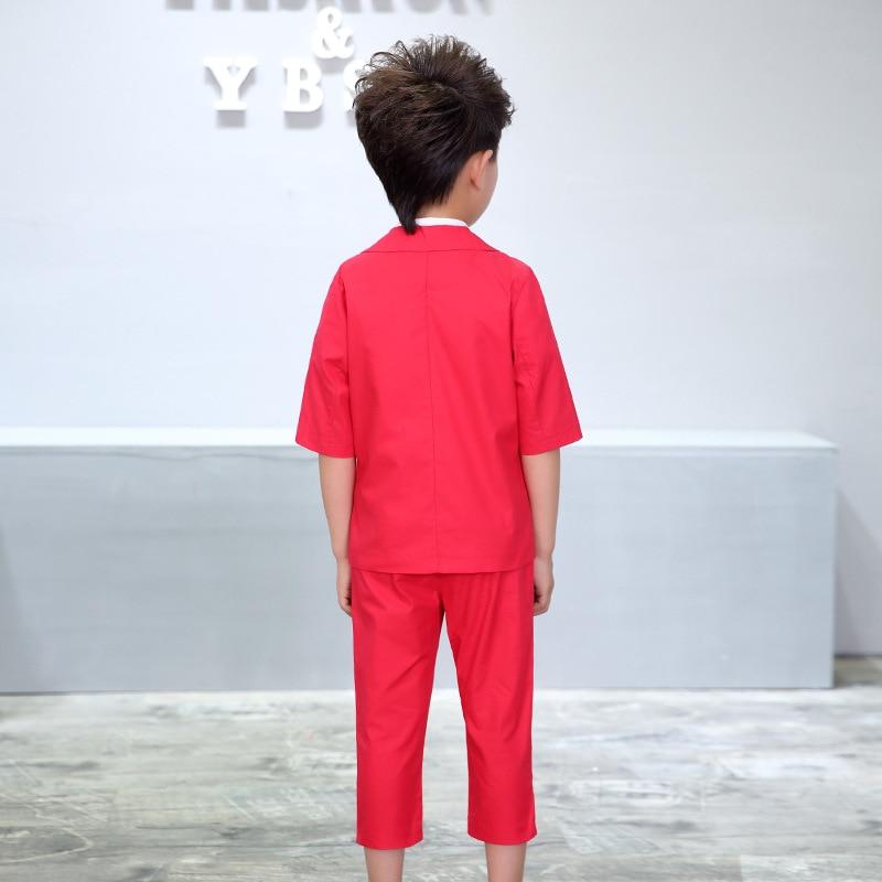 ActhInK New Boys 2PCS Solid Blazer Suit ბრენდი - ბავშვთა ტანსაცმელი - ფოტო 3