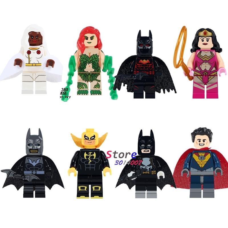 50pcs DC Marvel Hero Batman Poison Ivy Wonder Woman Superman Iron Fist building block bricks for